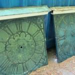 8 oude uurwerkborden Duin&Kruidberg